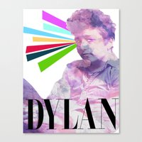 dylan Canvas Prints featuring Dylan by Coyvan