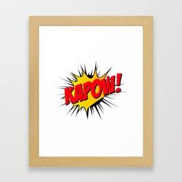 Kapow!! Framed Art Print