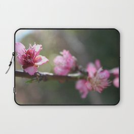 A Bough Of Blurred Peach Blossom Laptop Sleeve