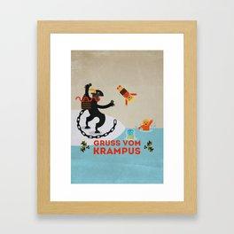 Gruss vom Krampus III Framed Art Print