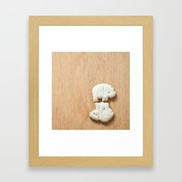 Animal Crackers - wood4 Framed Art Print