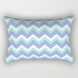 Blue Green Chevron Rectangular Pillow