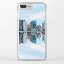 Boston reflection Clear iPhone Case