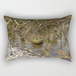 Whatcha Looking at Frog? Rectangular Pillow