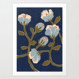 Blue Perennial Art Print