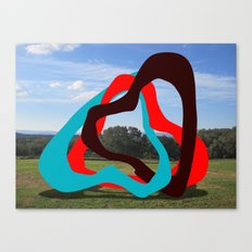 Triangles Red, Blue, Black - Sculpture Implants Series Canvas Print