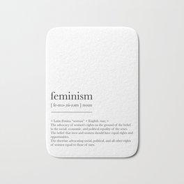 Feminism, dictionary definition Bath Mat