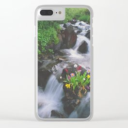 Wildflowers in the Stream above Montezuma, Colorado Clear iPhone Case
