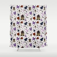 rock n roll Shower Curtains featuring Rock 'n' Roll by S. Vaeth