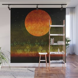 """Green Lemon & Golden Night Dream"" Wall Mural"