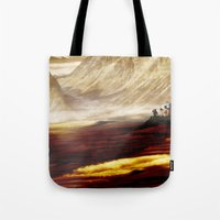 uncharted Tote Bags featuring Planet X by coleyetter