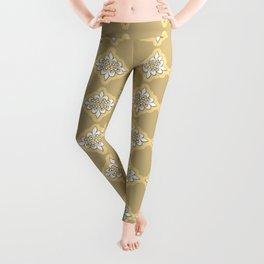 Fleur de lis 4 ...gold , gold Leggings