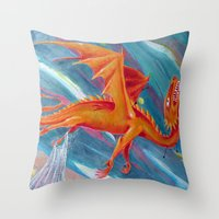 pain Throw Pillows featuring PAIN by STELZ (Vlad Shtelts)