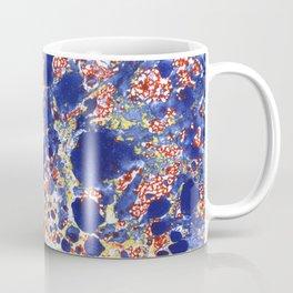 Marbling, blue, red and yelow Coffee Mug
