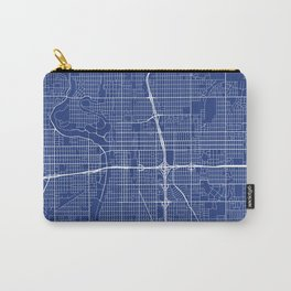 Wichita Map, USA - Blue Carry-All Pouch