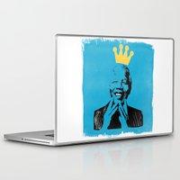 mandela Laptop & iPad Skins featuring King Mandela by César Ovalle