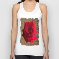 gold glitter Tank Tops featuring Gold Glitter Single Rose Flower by Deluxephotos