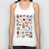 stickers Tank Tops featuring I Love Stickers by Jade Boylan