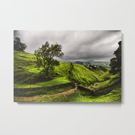 Top Of Cavedale. Derbyshire in The Peak District National Park. Metal Print