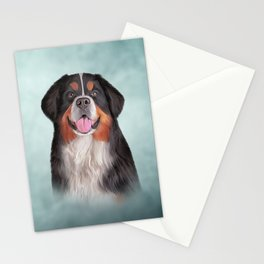 Drawing Bernese Mountain Dog Stationery Cards