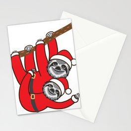 Santa Sloths Stationery Cards