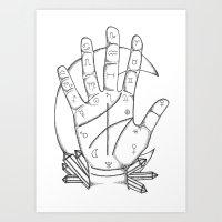 Palm Reader Art Print