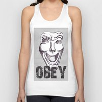 obey Tank Tops featuring Obey by Cat Milchard