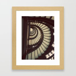 Chicago Rookery Building Staircase Color Photo Framed Art Print