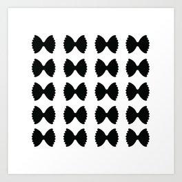 Pasta Series: Farfalle Pattern Art Print