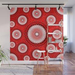Aboriginal dots painting art  Wall Mural