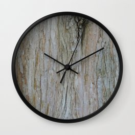 TEXTURES -- Dawn Redwood Bark Wall Clock