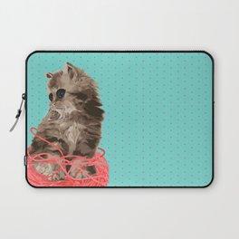 Messy Lil Cat Laptop Sleeve