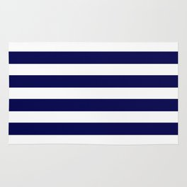 Navy Blue & White Stripes- Mix & Match with Simplicity of Life Rug