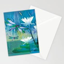 Dragonfly and Blue Pond Stationery Cards