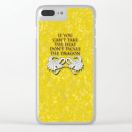 Tickle the Dragon Clear iPhone Case