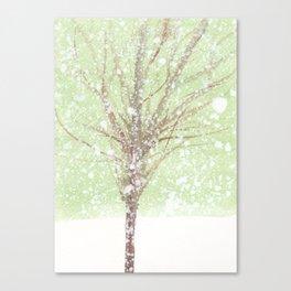 Tree and snow Canvas Print