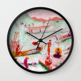 Florine Stettheimer Lake Placid Wall Clock