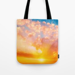 Sunset feather Tote Bag
