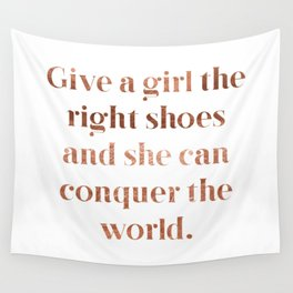 Rose gold shoe love Wall Tapestry