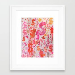 Barbie Money Framed Art Print