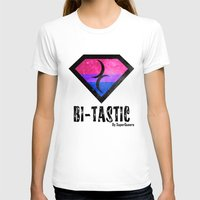 bisexual T-shirts featuring Bi-Tastic Bisexual medalion  by SuperQueero