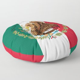 Flag of Mexico with Coat of Arms (augmented scale) Floor Pillow