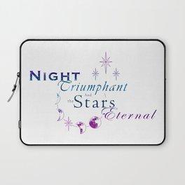 Night Triumphant - Stars Eternal (white) Laptop Sleeve