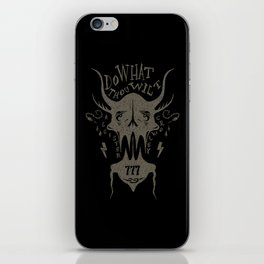 Do What Thou Wilt - Aleister Crowley iPhone Skin