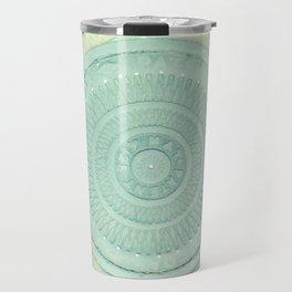 key lime polka dot coal hole cover (london) Travel Mug