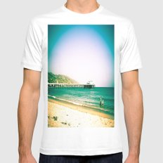 Hangin' Out In Malibu Mens Fitted Tee White MEDIUM