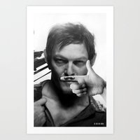 daryl Art Prints featuring Daryl  by Adel