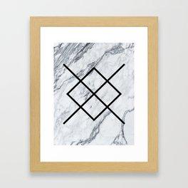 Marble Geometric Pattern Framed Art Print