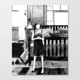 Dolly, Hands Folded Canvas Print