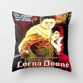 Vintage poster - Lorna Doone Throw Pillow